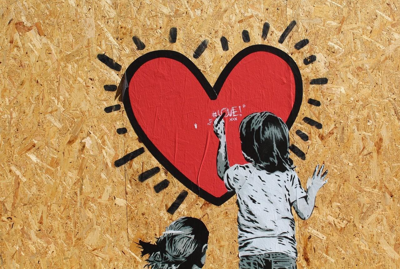 murales bambino cuore